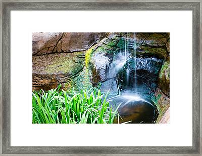 El Paso Zoo Waterfall Long Exposure Framed Print
