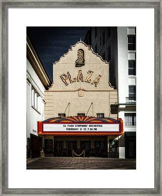 El Paso's Plaza Theatre Framed Print by Mountain Dreams