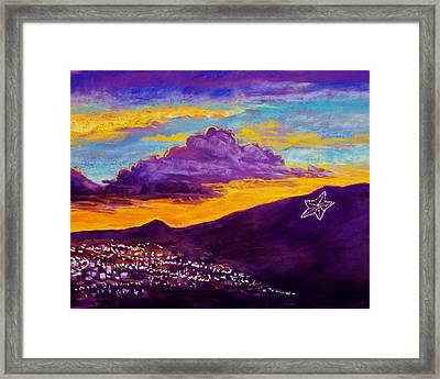 El Paso's Star Framed Print by Candy Mayer