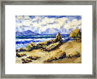 El Pescador Beach Storm Coming In Framed Print by Randy Sprout