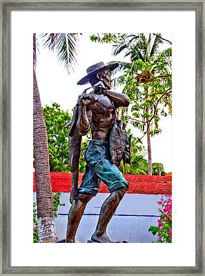 Framed Print featuring the photograph El Pescador by Jim Walls PhotoArtist