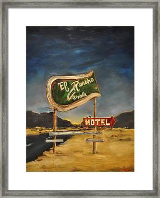 Framed Print featuring the painting El Rancho by Lindsay Frost