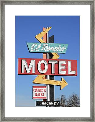 El Rancho Motel Stockton Ca Framed Print by Troy Montemayor