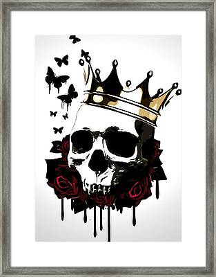 El Rey De La Muerte Framed Print by Nicklas Gustafsson