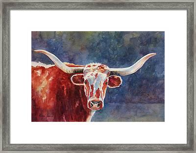 el rey... Longhorn Framed Print
