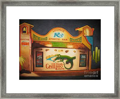 El Rio Framed Print by Vikki Wicks