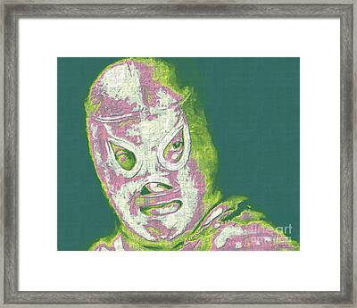 El Santo The Masked Wrestler 20130218v2m80 Framed Print by Wingsdomain Art and Photography
