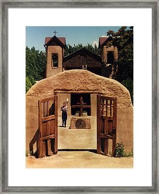 Framed Print featuring the photograph El Santuario De Chimayo by Kathleen Stephens