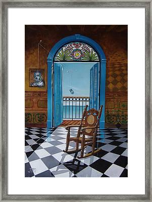 El Sillon De Abuelita Framed Print
