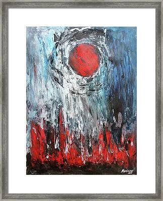 El Sol Evapora El Alma Framed Print