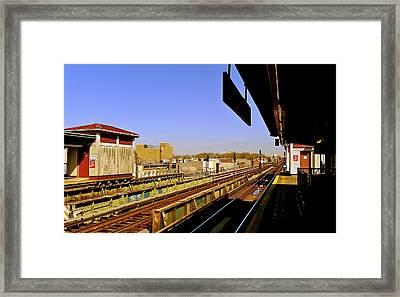 El Station Brooklyn Framed Print by Frank Winters