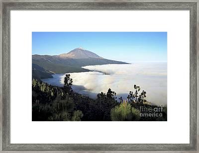 El Teide Above The Clouds Framed Print by Luigi Morbidelli