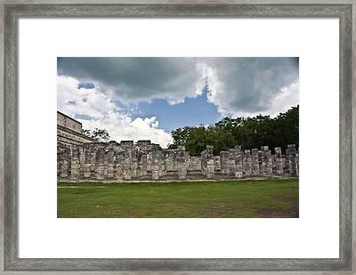 El Templo De Las Columnas  Framed Print by Douglas Barnett