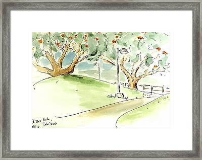 Framed Print featuring the painting El Toro Park by Maria Langgle