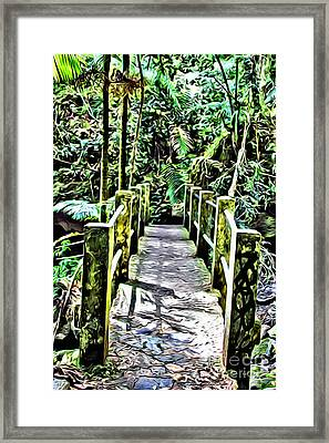 El Yunque Bridge Framed Print by Carey Chen
