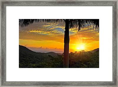 El Yunque Mountain Sunrise Framed Print by Stephen Anderson