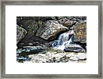 El Yunque Stream Framed Print by Carey Chen