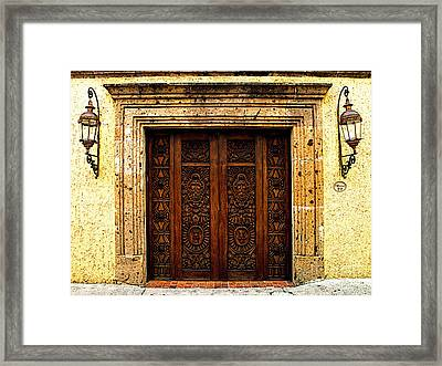 Elaborate Puerta Framed Print by Mexicolors Art Photography