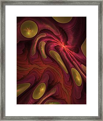 Elaine's Lava Flow Framed Print