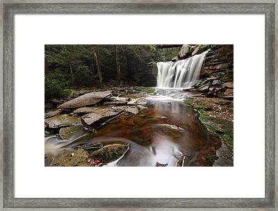 Elakala Falls In West Virginia Framed Print