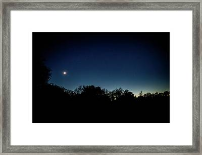 Elapse Of A Day Framed Print