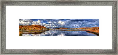 Elberta And Frankfort In Autumn Framed Print by Twenty Two North Photography