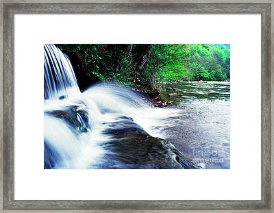 Elbow Run Flowing Into Williams River Framed Print by Thomas R Fletcher