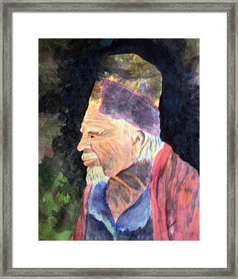 Elder Framed Print by Susan Kubes