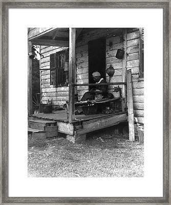 Elderly African American Woman Framed Print