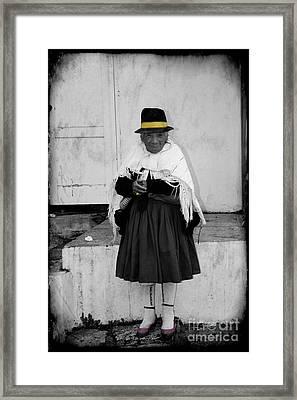 Elderly Beggar In Biblian Framed Print by Al Bourassa