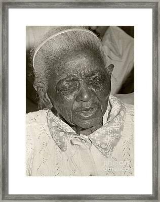Elderly Woman Framed Print by Andrea Simon