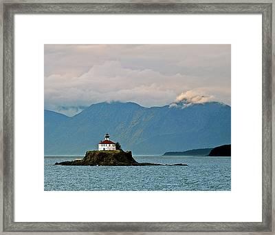 Eldred Rock Lighthouse Skagway Framed Print by Michael Peychich