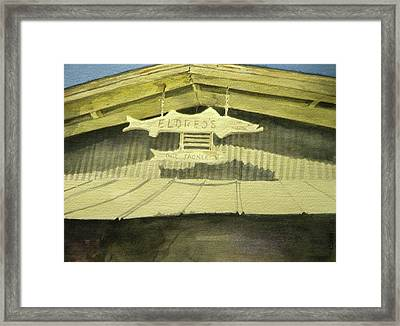 Eldreds Takle Shop In Florida Framed Print by Walt Maes