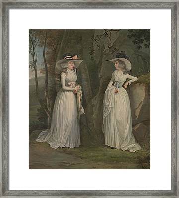 Eleanor And Margaret Ross Framed Print by Alexander Nasmyth