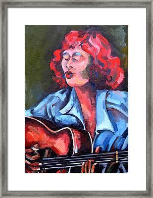 Eleanor Ellis - Diving Duck Blues Framed Print by Jackie Merritt