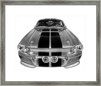 Eleanor Ford Mustang Framed Print