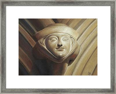 Framed Print featuring the pastel Eleanor Of Aquitaine by Joe Winkler