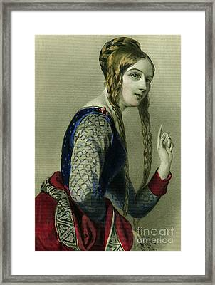 Eleanor Of Aquitaine, Queen Of Henry II Framed Print by English School