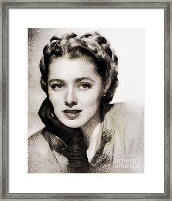 Eleanor Parker, Vintage Actress Framed Print by John Springfield