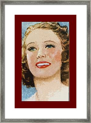 Eleanor Powell Framed Print by James Hill