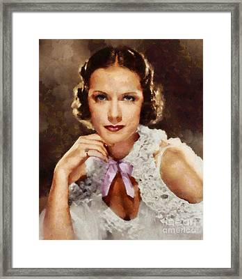 Eleanor Powell, Vintage Actress Framed Print by Sarah Kirk