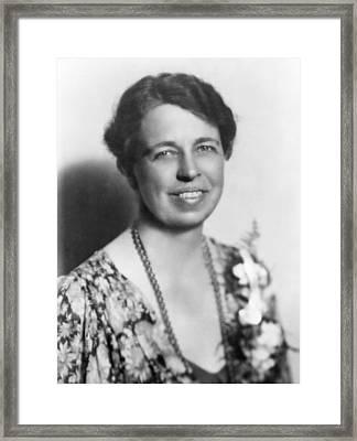 Eleanor Roosevelt 1884-1962 In July Framed Print