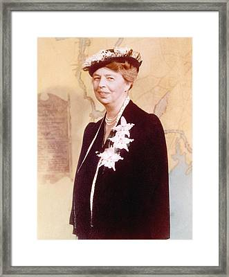 Eleanor Roosevelt. Hand Colored Framed Print by Everett