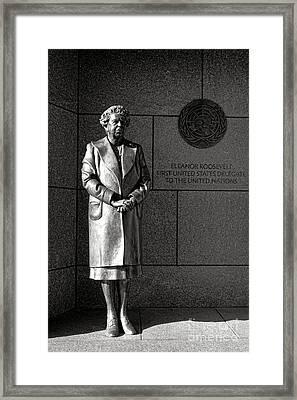 Eleanor Roosevelt Sculpture  Framed Print