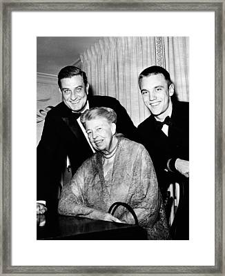 Eleanor Roosevelt With Son Franklin Jr Framed Print