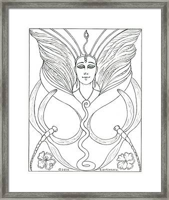 Spirit Guide Eleanora Framed Print by Debra A Hitchcock