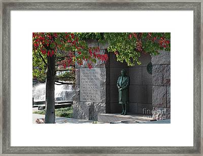 Eleanor's Alcove At The Fdr Memorial In Washington Dc Framed Print