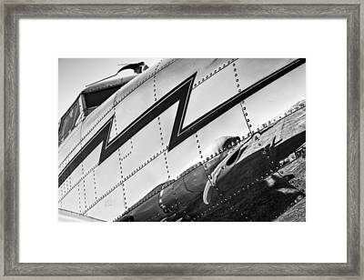 Electra In Chrome Framed Print