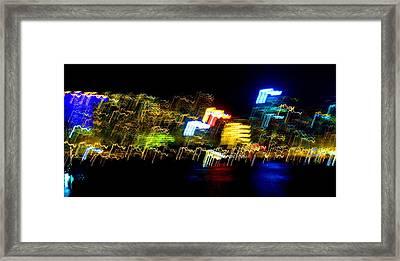 Electri City Framed Print by Roberto Alamino