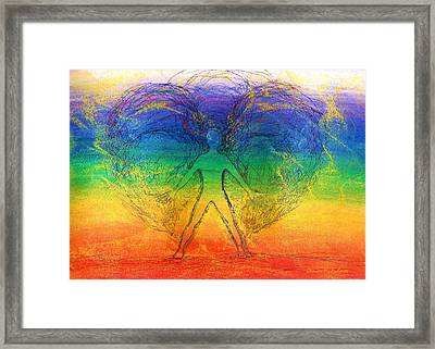 Electric Angel Framed Print by Denise Fulmer